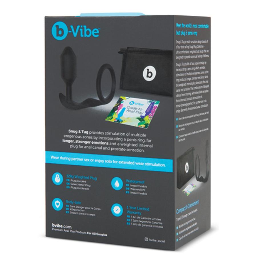 B-Vibe - Snug & Tug Prostaat Massager Met Penisring Anale Speeltjes