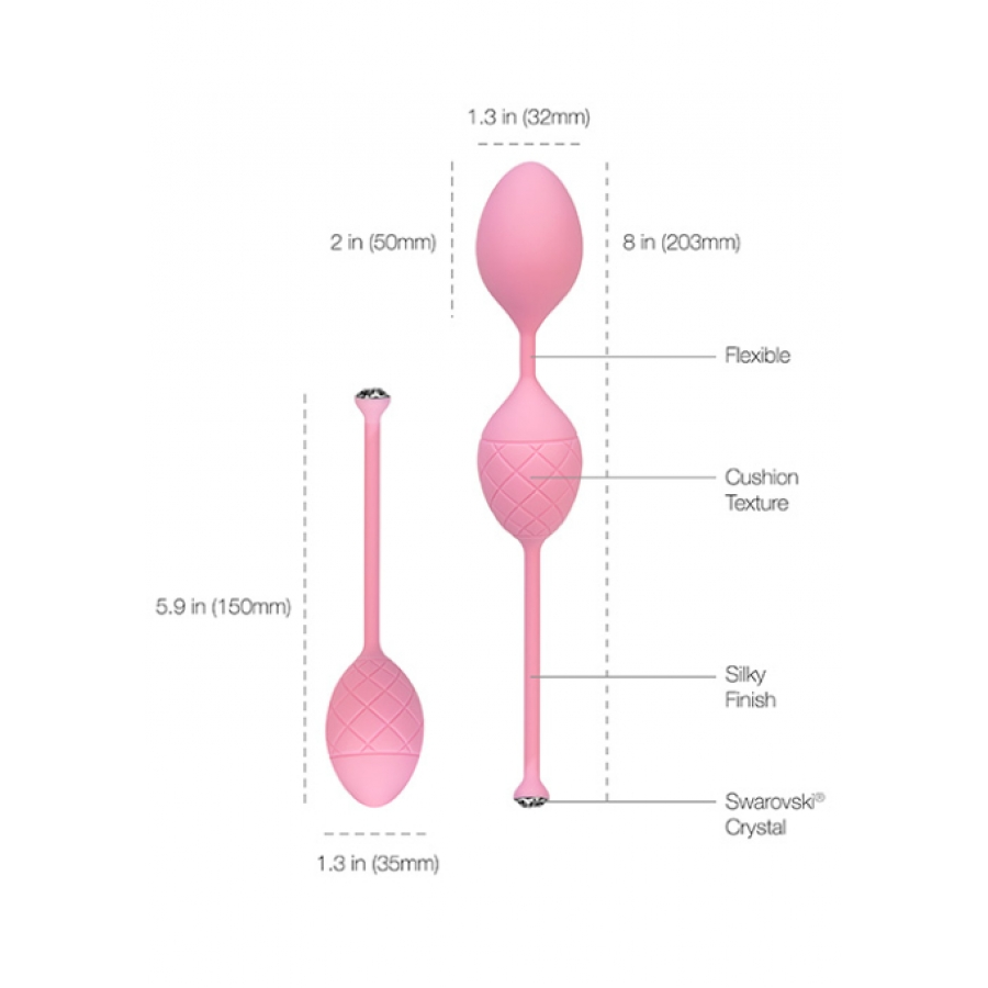 Pillow Talk - Frisky Pleasure Balls Kegel Trainers