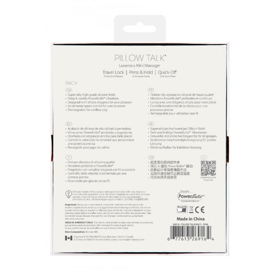 Pillow Talk - Racy USB-Oplaadbare Mini G-Spot Vibrator