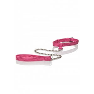 CalExotics - Tickle Me Pink Collar with Leash SM