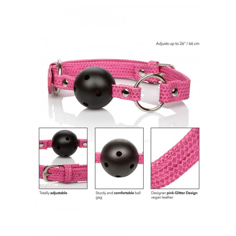 CalExotics - Tickle Me Pink Ball Gag SM