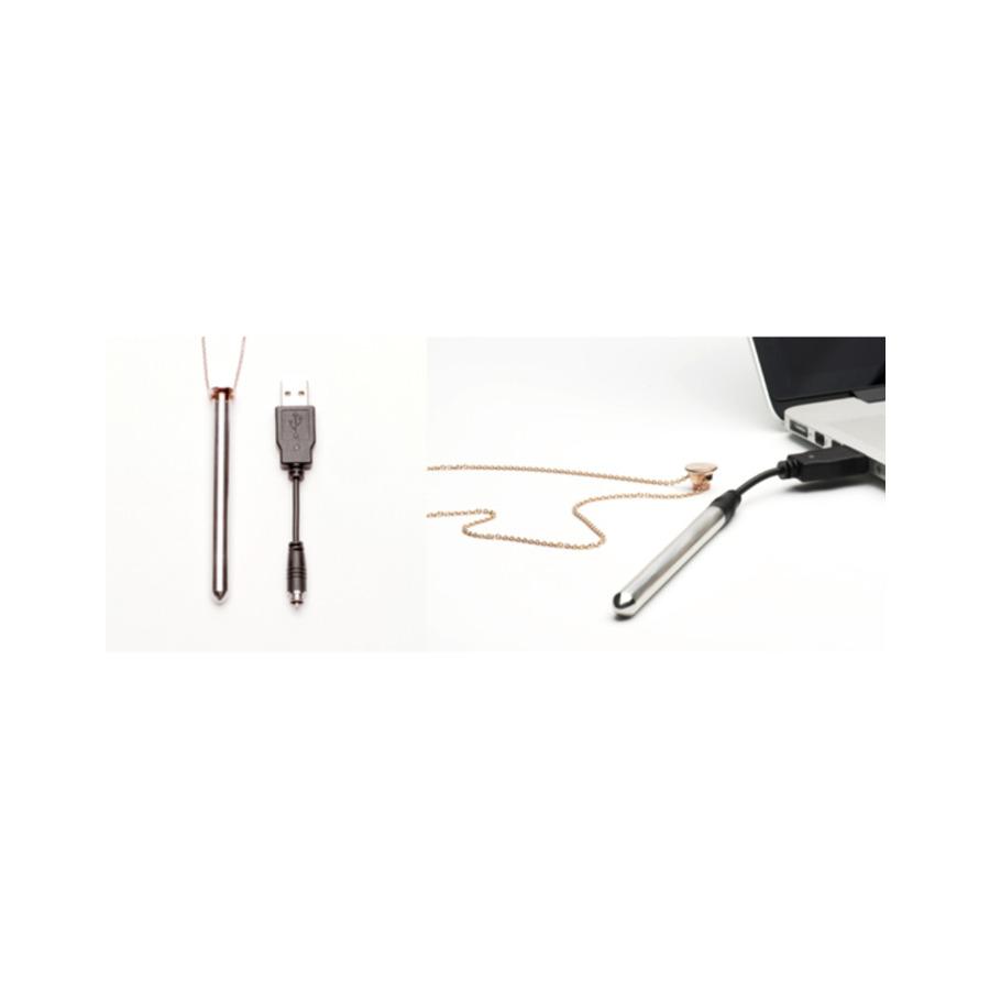 Crave - Vesper Vibrator Necklace Rose-Gold Vrouwen Speeltjes