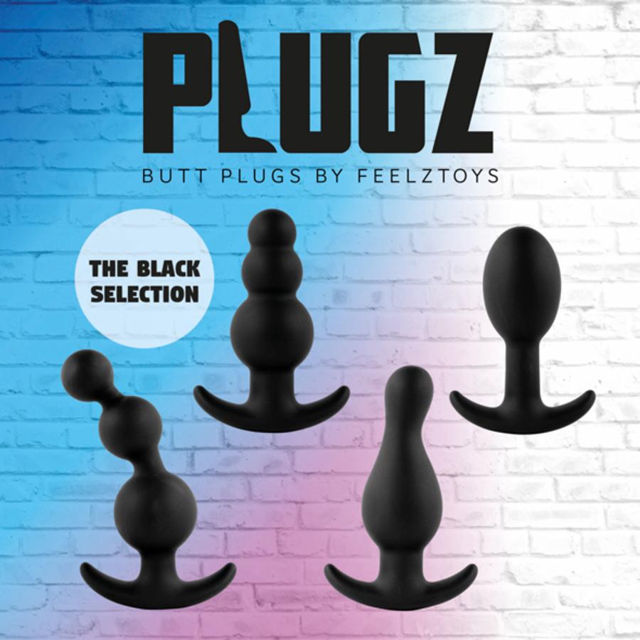 FeelzToys - Plugz Butt Plug Zwart Nr. 4 Anale Speeltjes