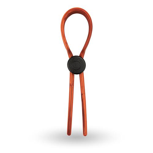 Velv'Or - Rooster Ragnar Lasso Design Siliconen Verstelbare Cock Ring Rood