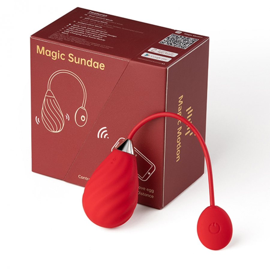 Magic Motion - Magic Sundae App Bestuurbare Love Egg Vrouwen Speeltjes