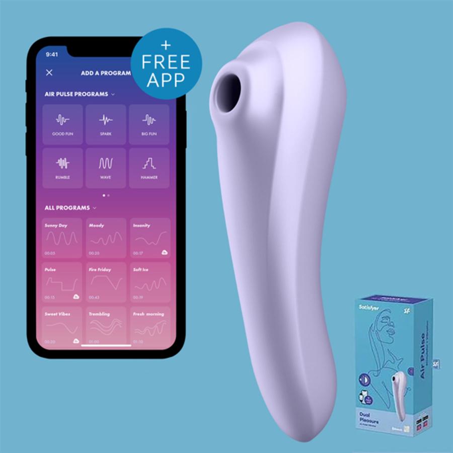 Satisfyer - Dual Pleasure Air Pulse Vibrator App Bestuurbaar Vrouwen Speeltjes
