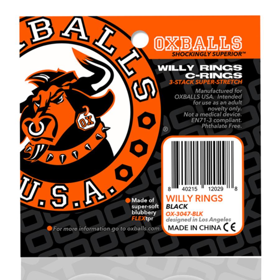 Oxballs - Willy Rings 3-pack Flexibele Cockringen Mannen Speeltjes