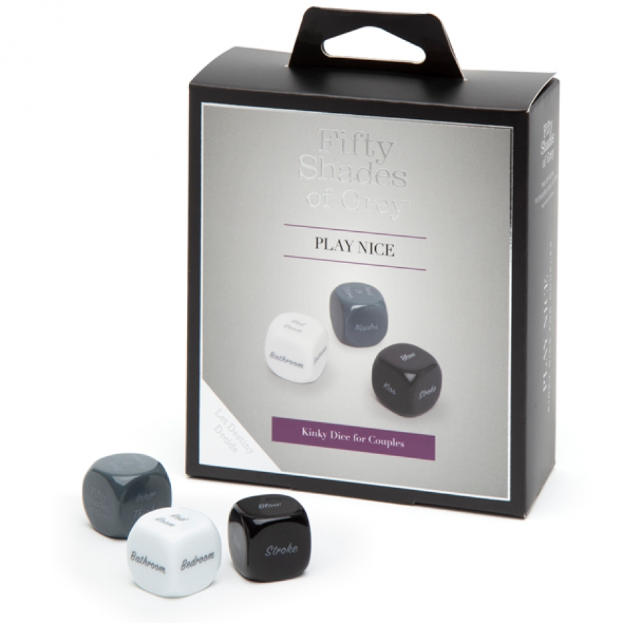 Fifty Shades of Grey - Play Nice Role Play Dobbelsteen Spel Accessoires