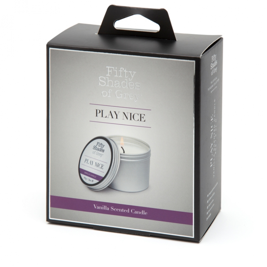 Fifty Shades of Grey - Play Nice Vanille Kaars 90 gram Accessoires