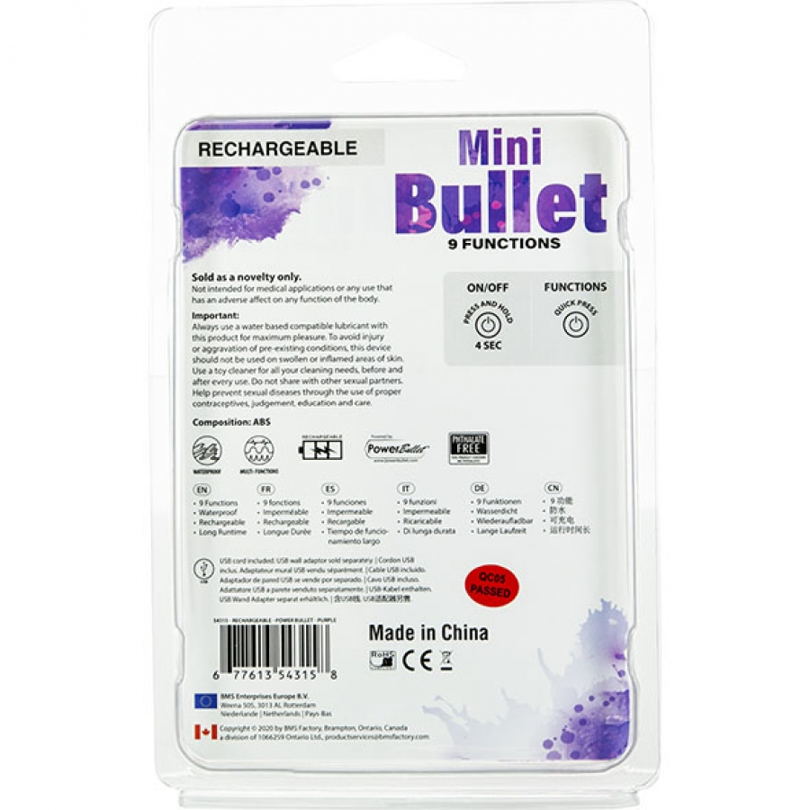 PowerBullet - Mini PowerBullet met 9 Functies Vrouwen Speeltjes