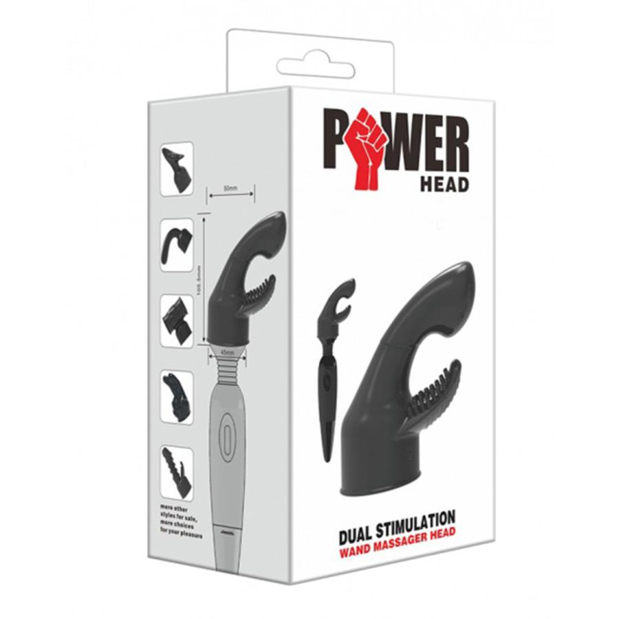 Power Head - Duale Stimulatie Wand Massager Opzetstuk Vrouwen Speeltjes