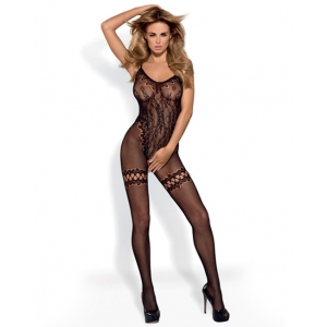 Obsessive - Bodystocking Met Imitatie Stockings Lingerie
