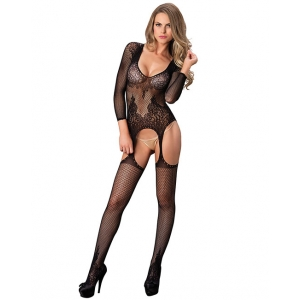 Leg Avenue - Suspender Bodystocking One Size Black Lingerie