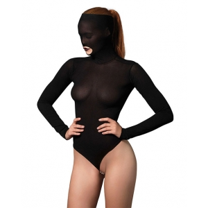Leg Avenue - Masked Teddy G-String One Size Black Lingerie