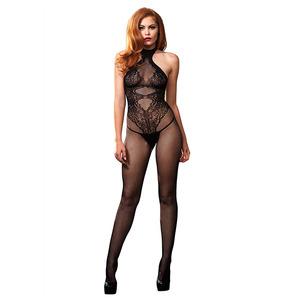 Leg Avenue - Open Crotch Bodystocking Black One Size Lingerie