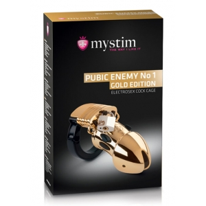 MyStim - Public Enemy No. 1 Cock Cage Gold Edition