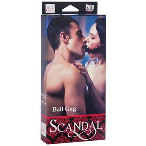 Scandal - Ball Gag Zwart/Rood SM