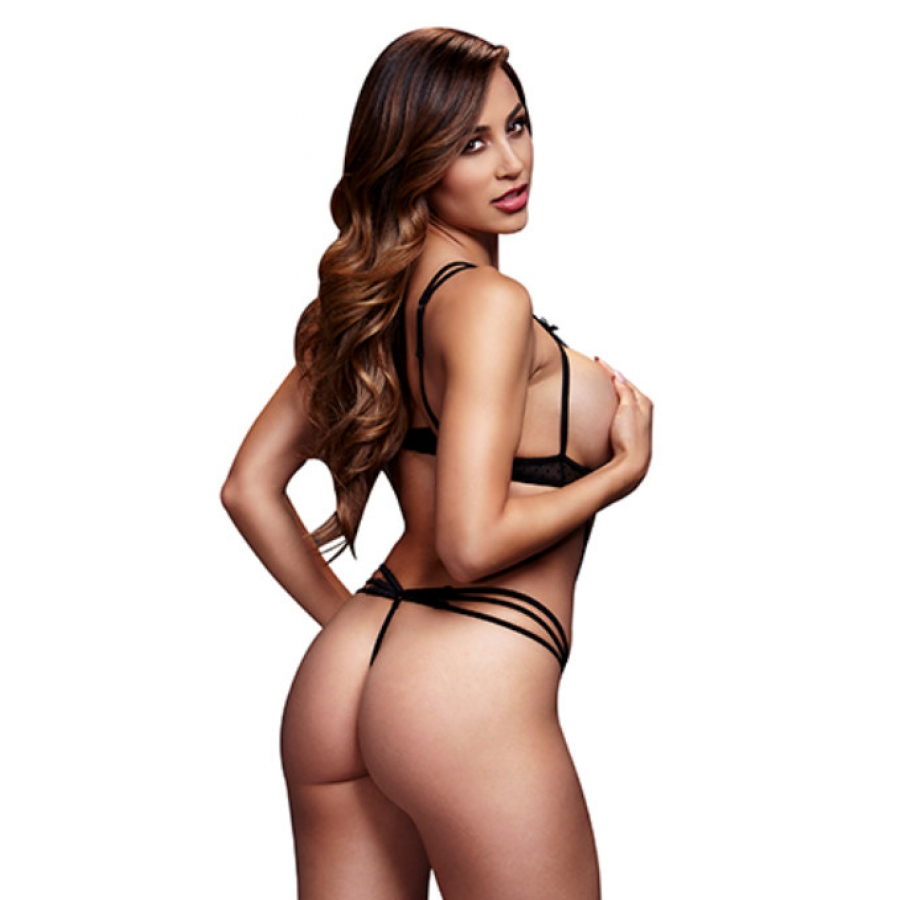 Baci - Strappy Bodysuit Met Open Cup BH Lingerie