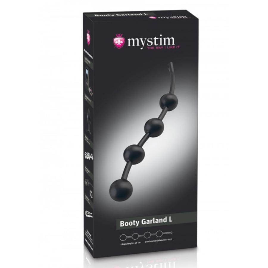 Mystim - Booty Garland Anal Chain L E-Stim Beads SM