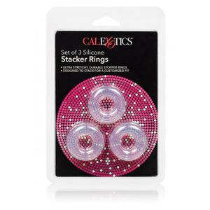CalExotics - 3 Stacker Siliconen Penis Ringen Mannen Speeltjes