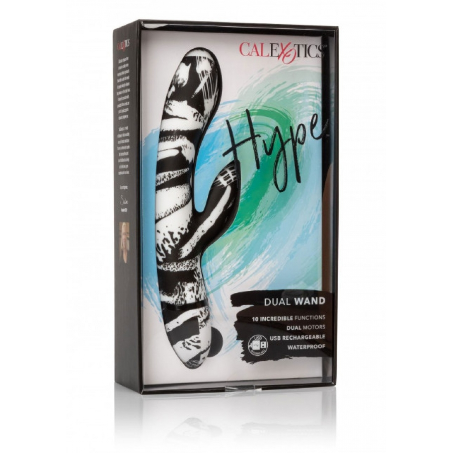 CalExotics - Hype USB-Oplaadbare Dual Wand Vibrator Vrouwen Speeltjes