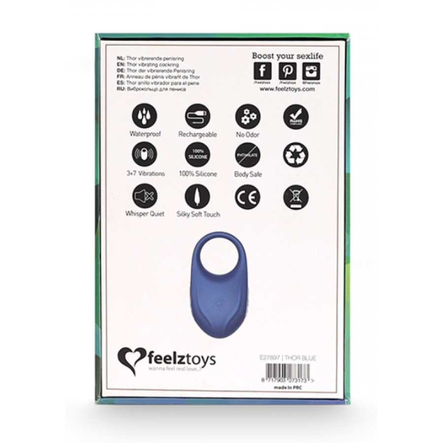 Feelztoys - Thor Vibrerende USB-Oplaadbare Cockring Mannen Speeltjes
