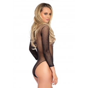 Leg Avenue - Turtleneck Fishnet Teddy Lingerie