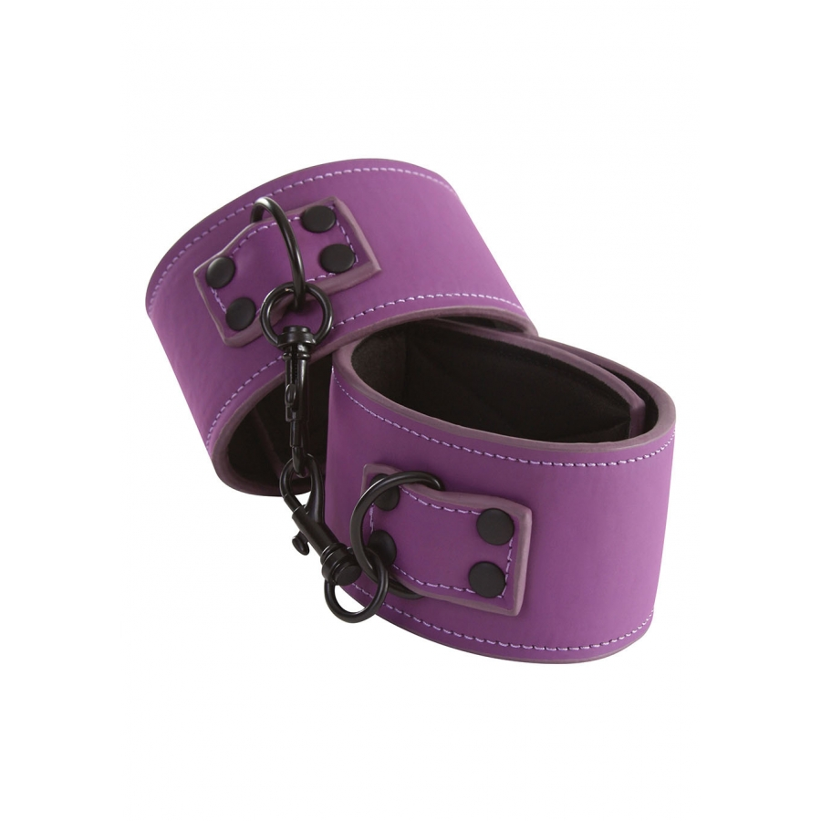 Lust - Bondage Ankle Cuffs Purple SM
