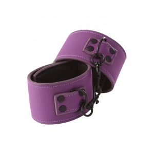 Lust - Bondage Wrist Cuffs Purple SM