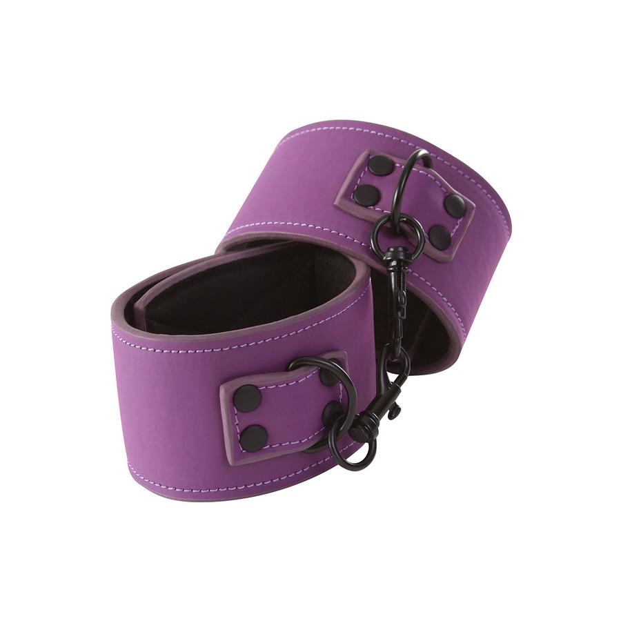 Lust - Bondage Wrist Cuffs Purple SM