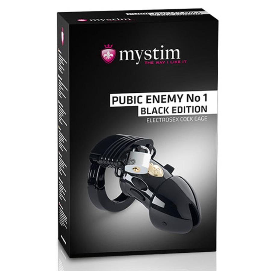 Mystim - Pubic Enemy No 1 Cock Cage Black Edition SM