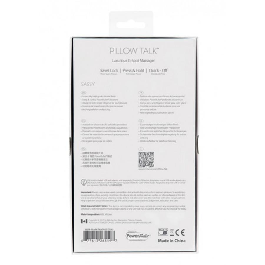 Pillow Talk - Sassy USB-Oplaadbare G-Spot Massager Vrouwen Speeltjes