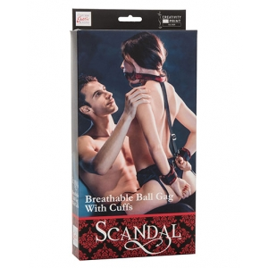 Scandal - Breathable Ball Gag Met Handboeien SM