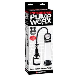 Pump Worx - Accu Meter Power Pomp Mannen Speeltjes