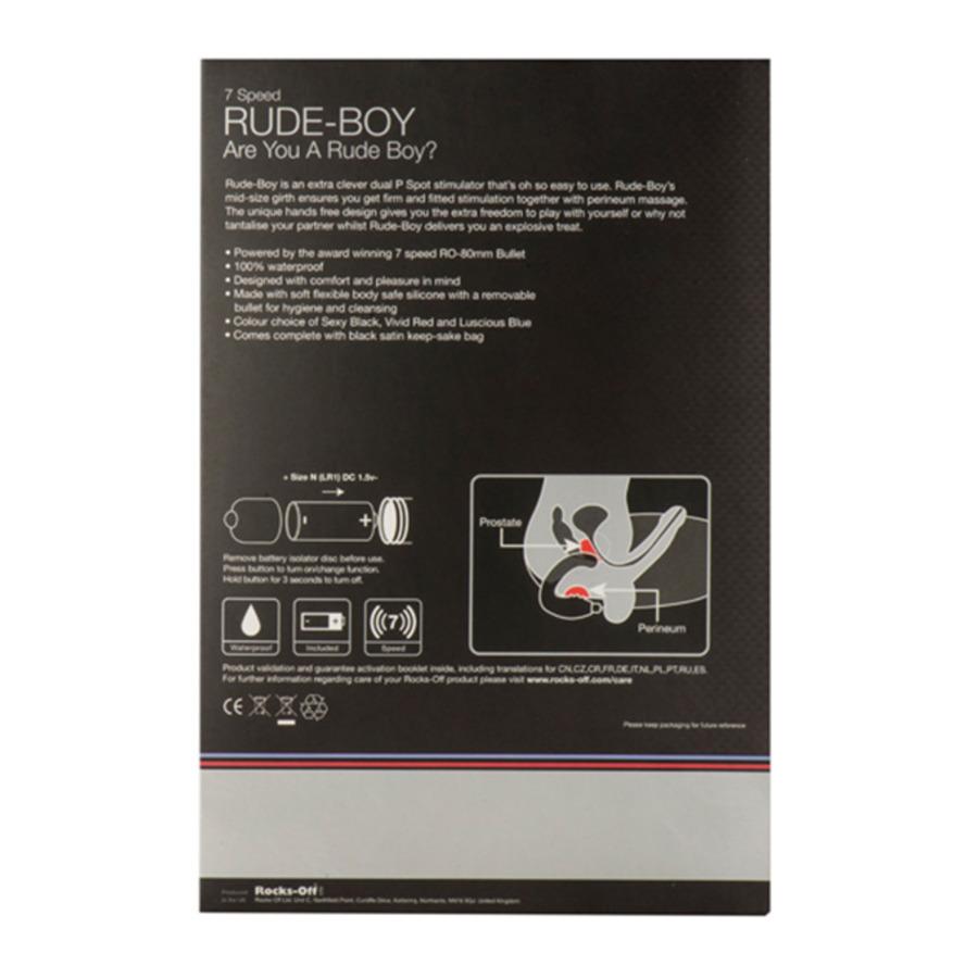 Rocks Off - Vibrerende Rude-Boy Zwart Anale Speeltjes