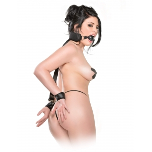 Fetish Fantasy - Gag And Wrist Restraint Set SM