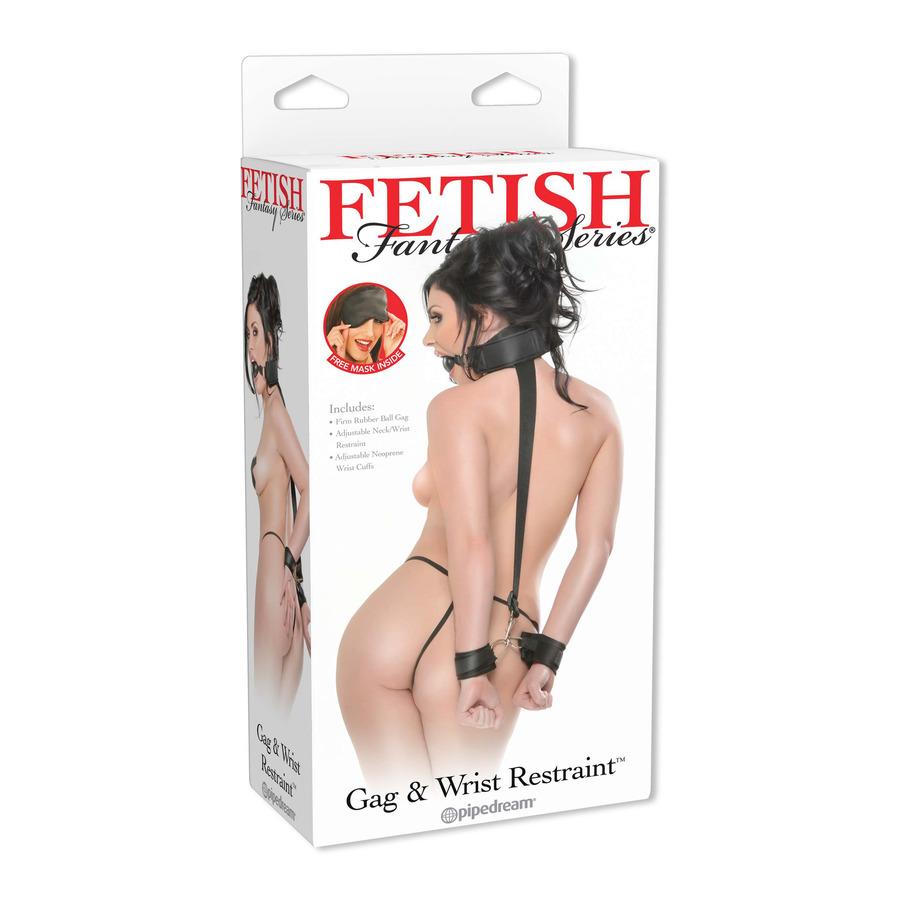 Fetish Fantasy - Gag And Wrist Restraint Set SM
