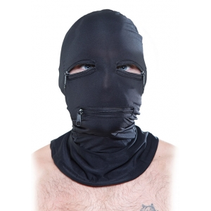 Fetish Fantasy - Black Zipper Face Hood SM