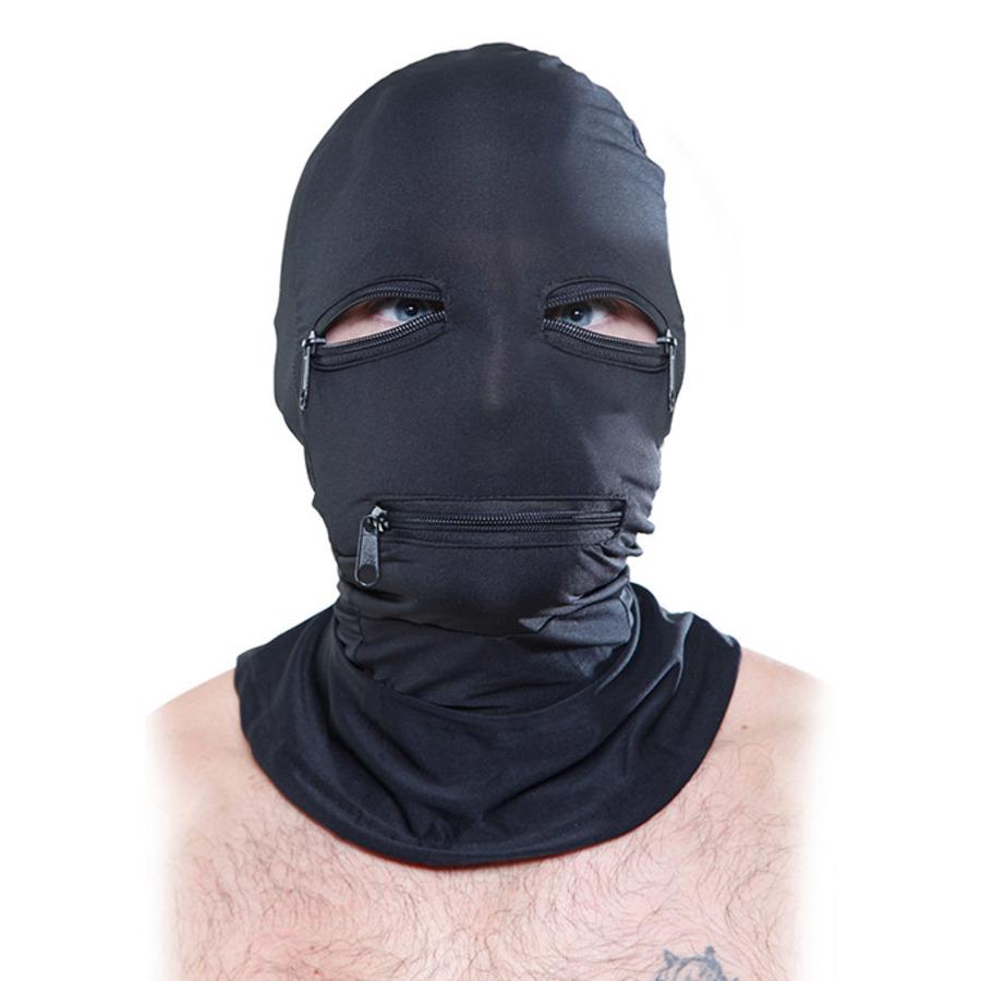 Fetish Fantasy - Black Zipper Face Hood SM