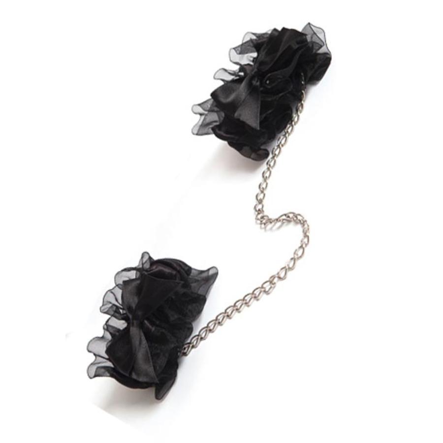Bijoux Indiscrets - Frou Frou Handboeien Zwart SM