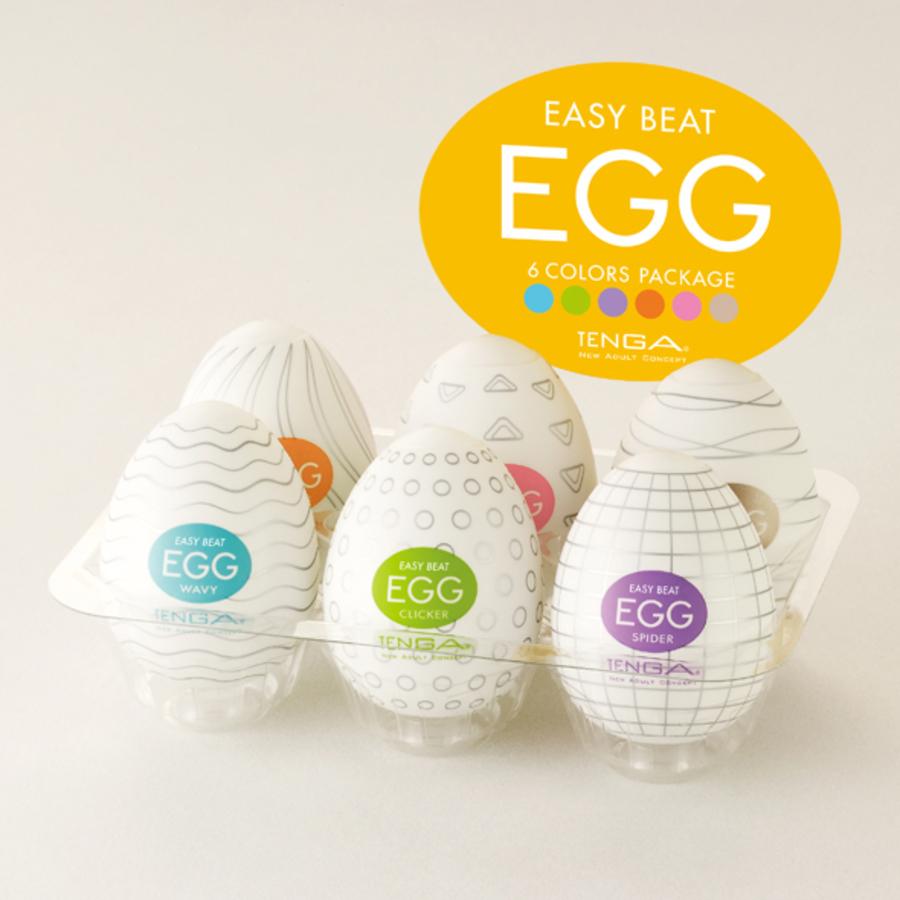 Tenga - Egg 6 Verschillende Serie Masturbators Mannen Speeltjes