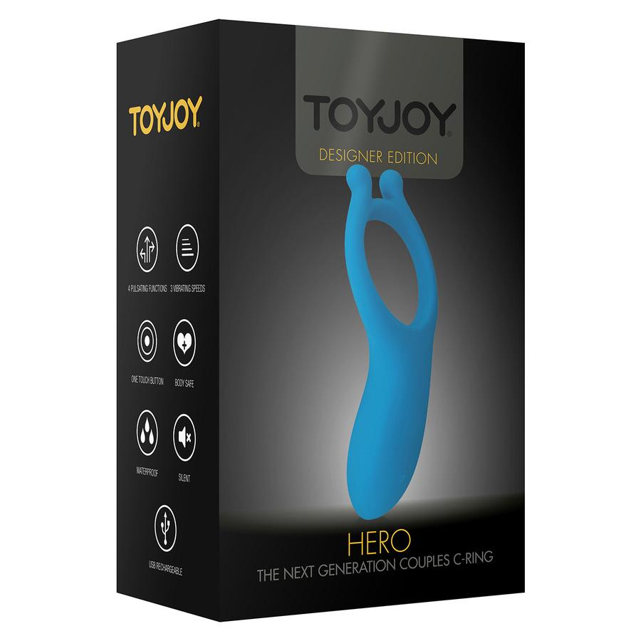 ToyJoy - Hero Vibrerende USB Stellen Cock Ring Blauw Mannen Speeltjes