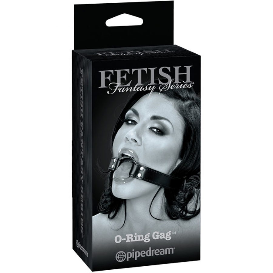 FF Grey - O-Ring Gag Zwart SM