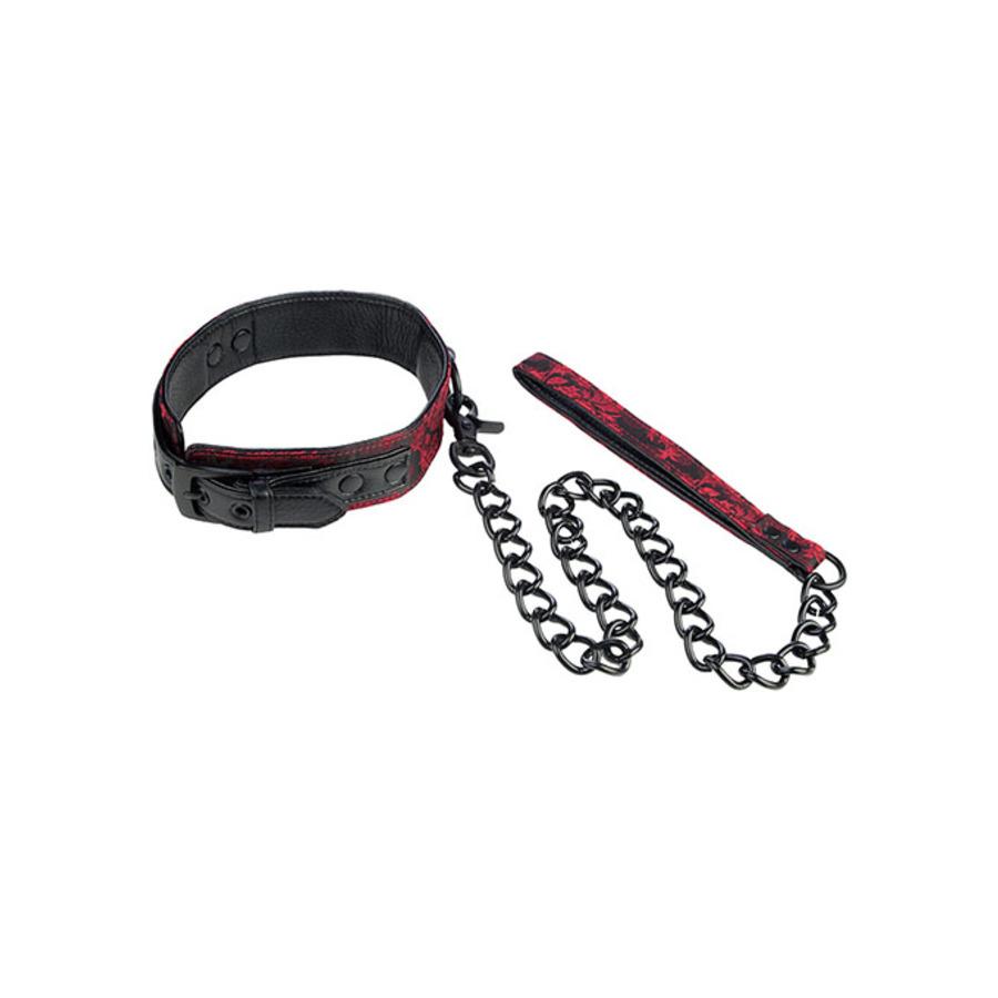 Scandal - Halsband Met Ketting Zwart SM
