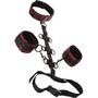 Scandal - Halsband met Handboeien Set Rood/Zwart