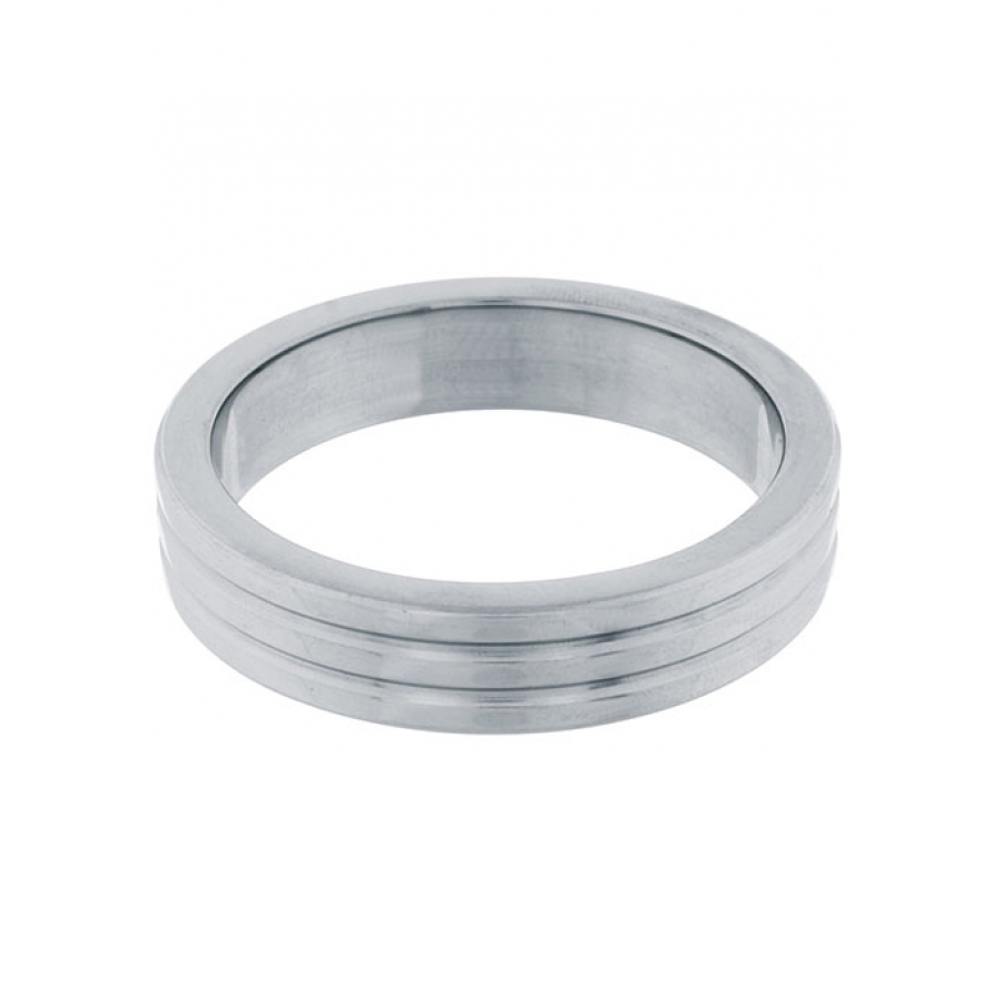 Steel Power - RVS Metalen Geribbelde Cockring 4cm Mannen Speeltjes