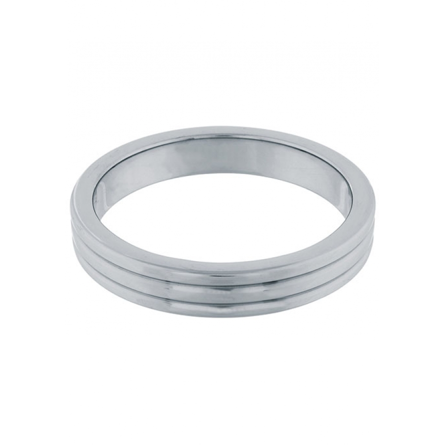 Steel Power - RVS Metalen Geribbelde Cockring 5cm Mannen Speeltjes