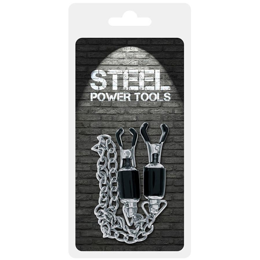 Steel Power - Tepelklemmen Met Stalen Ketting SM