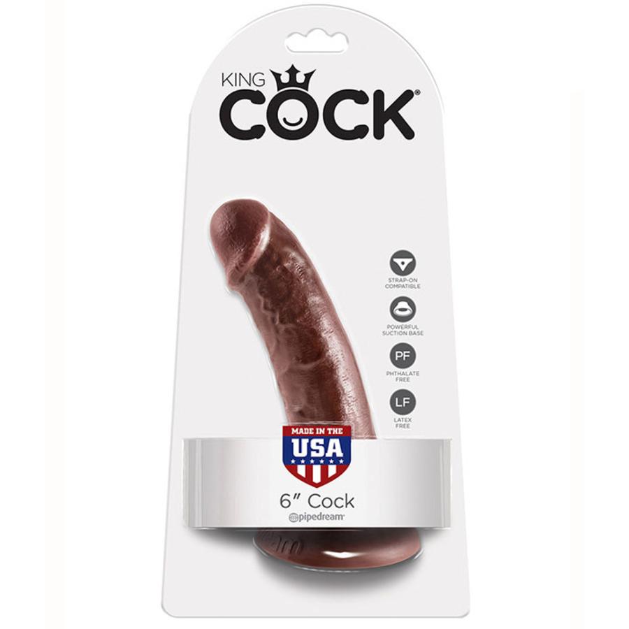 Pipedream - King Cock Dildo Met Zuignap 15 cm Bruin Vrouwen Speeltjes