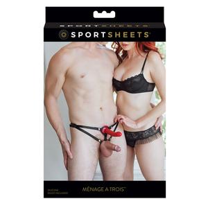 Sportsheets - Menage a Trois for Two Voorbind Dildo Mannen Speeltjes